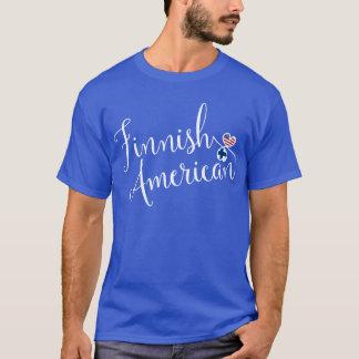 Finnish American Entwinted Hearts T-Shirt, Finns T-Shirt