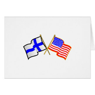 Finnish American Flags Greeting Card