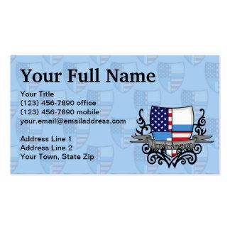 Finnish-American Shield Flag Business Card