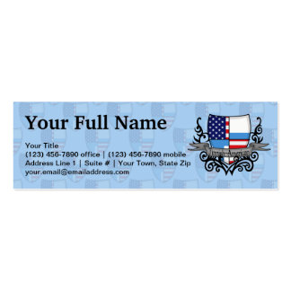 Finnish-American Shield Flag Business Card Template