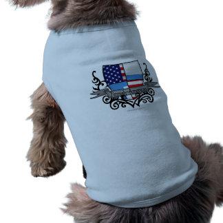 Finnish-American Shield Flag Sleeveless Dog Shirt