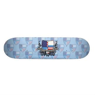 Finnish-American Shield Flag Skate Board Deck