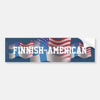 Finnish-American Waving Flag Bumper Sticker