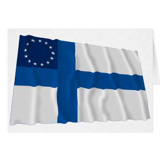 Finnish-American Waving Flag Cards