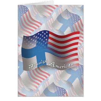 Finnish-American Waving Flag Greeting Card