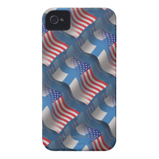 Finnish-American Waving Flag iPhone 4 Cases