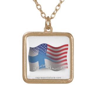 Finnish-American Waving Flag Pendant