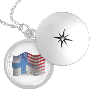 Finnish-American Waving Flag Necklaces