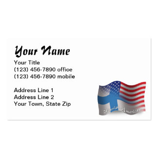 Finnish-American Waving Flag Pack Of Standard Business Cards