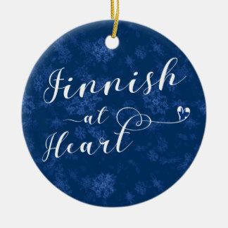 Finnish At Heart, Christmas Tree Ornament, Finland Ceramic Ornament