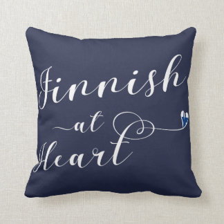 Finnish At Heart Throw Cushion, Finland Cushion