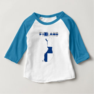 Finnish country flag baby T-Shirt