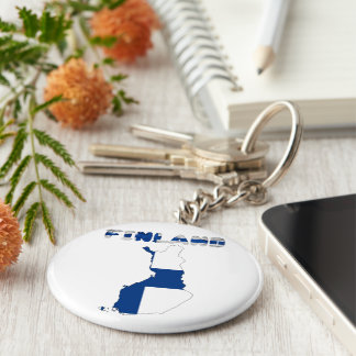 Finnish country flag key ring