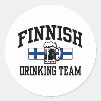 Finnish Drinking Team Round Sticker