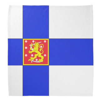 Finnish flag bandana