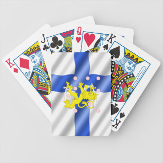Finnish flag bicycle playing cards
