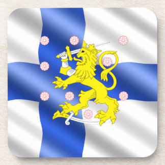 Finnish flag coaster