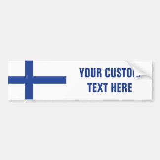 Finnish Flag custom bumpersticker Bumper Sticker