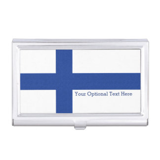 Finnish Flag custom business card holder