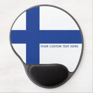 Finnish Flag custom mousepad Gel Mouse Pad