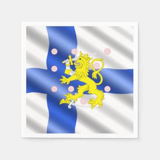 Finnish flag disposable napkin