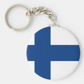 Finnish flag key ring