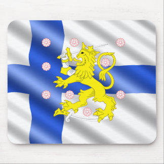 Finnish flag mouse pad