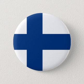 Finnish Flag on Button