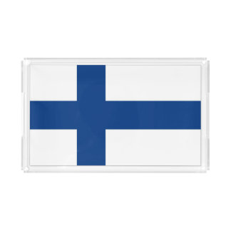 Finnish Flag on Serving Tray
