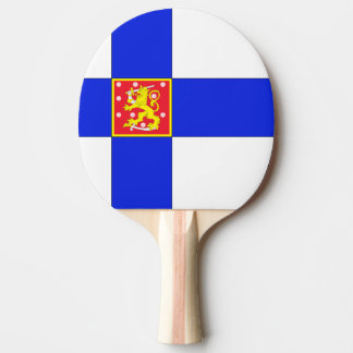 Finnish flag ping pong paddle