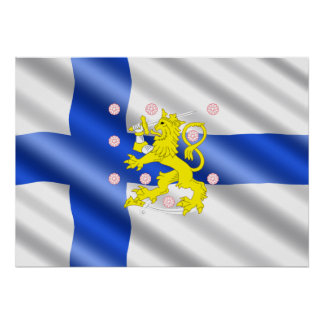 Finnish flag poster