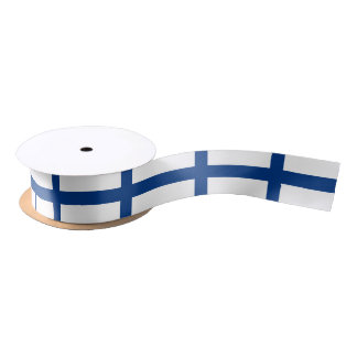 Finnish flag ribbon satin ribbon