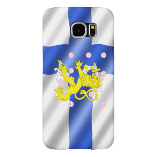 Finnish flag samsung galaxy s6 cases