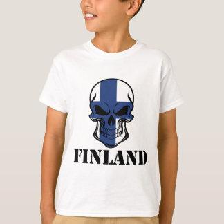 Finnish Flag Skull Finland T-Shirt
