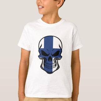Finnish Flag Skull T-Shirt