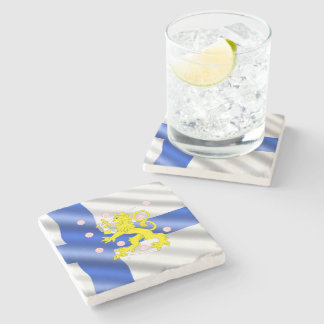 Finnish flag stone coaster