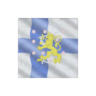 Finnish flag stone magnet