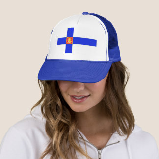 Finnish flag trucker hat