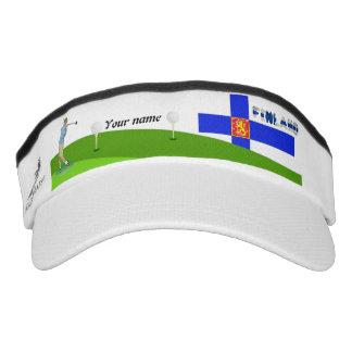 Finnish golfer visor