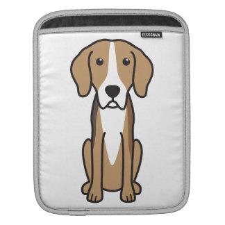 Finnish Hound Dog Cartoon Sleeves For iPads