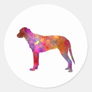 Finnish Hound in watercolor Round Sticker
