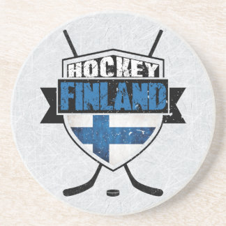 Finnish Ice Hockey Shield Suomi Coaster