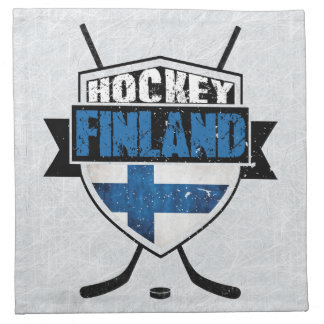 Finnish Ice Hockey Shield Suomi Napkins