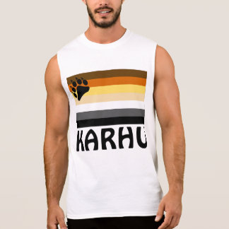 Finnish (Karhu) Gay Bear Pride Flag Sleeveless Shirt