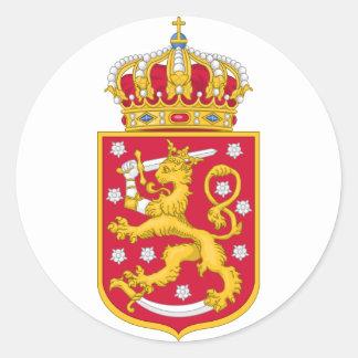 Finnish Kingdom Seal Round Sticker