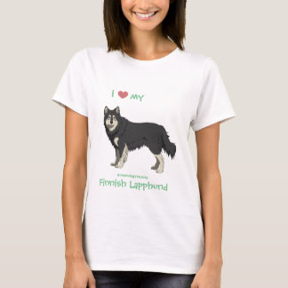 Finnish Lapphund black and white shirt -