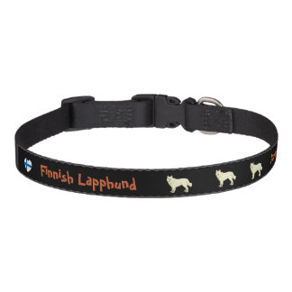 Finnish Lapphund dog collar black