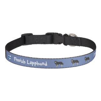 Finnish Lapphund dog collar blue