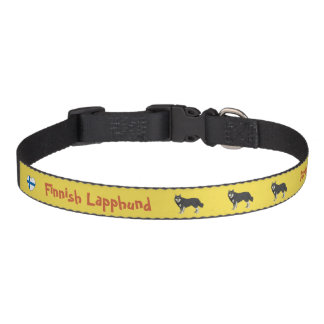 Finnish Lapphund dog collar yellow