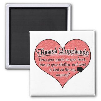 Finnish Lapphund Paw Prints Dog Humor Fridge Magnet